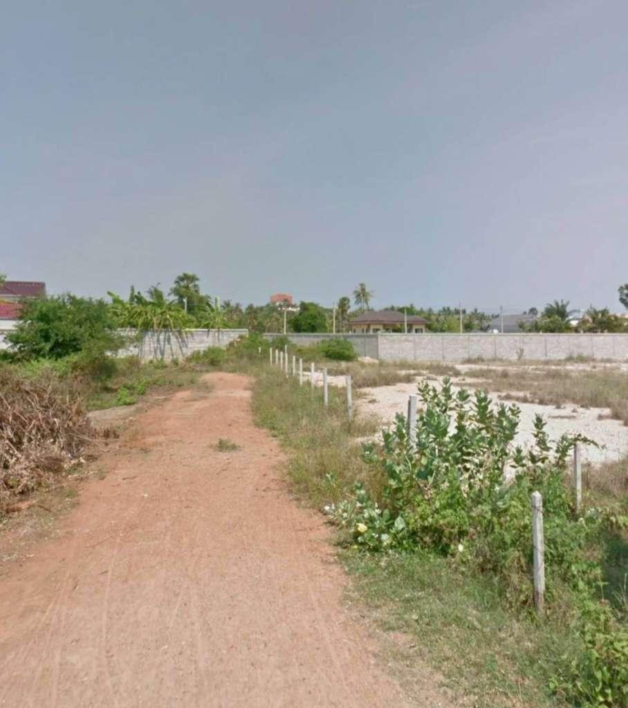 ขายด่วนที่ดินเปล่า 1ไร่ ปากน้ำปราณ ถูกกว่าตลาด 500,000 บาท